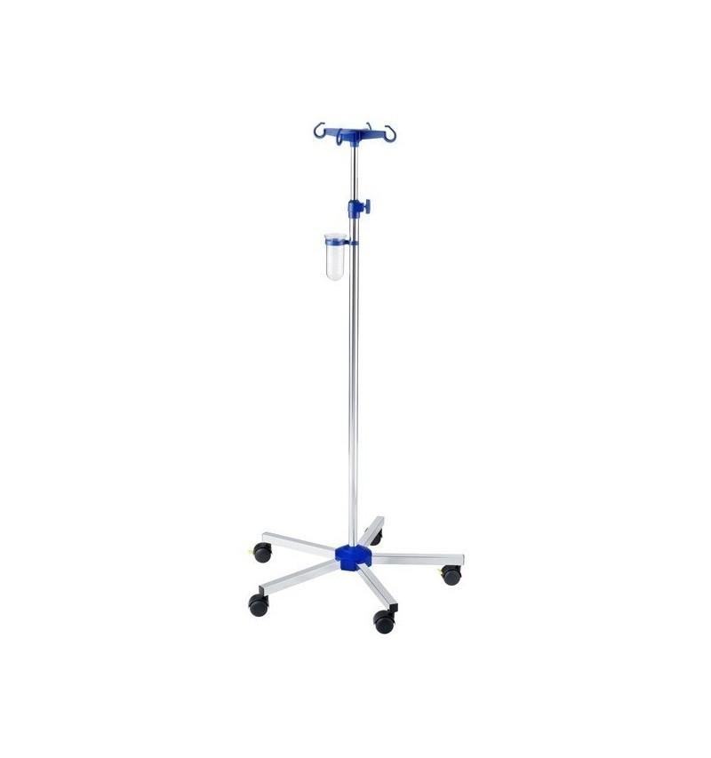 Suport pentru perfuzie cu picior din otel cromat, si 4 carlige plastic - I-N41121