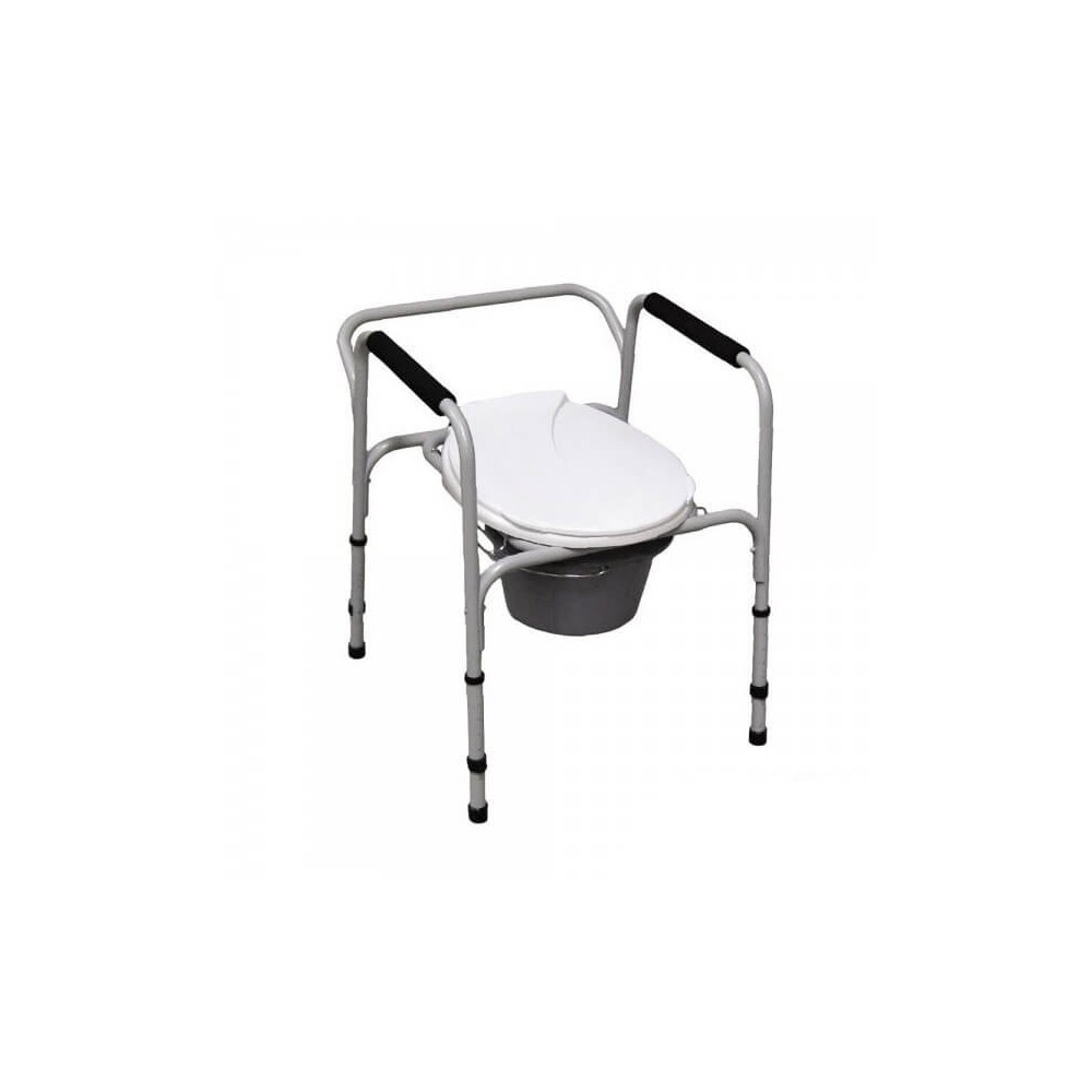 Scaun WC de camera 4 in 1, din aluminiu - AT01001