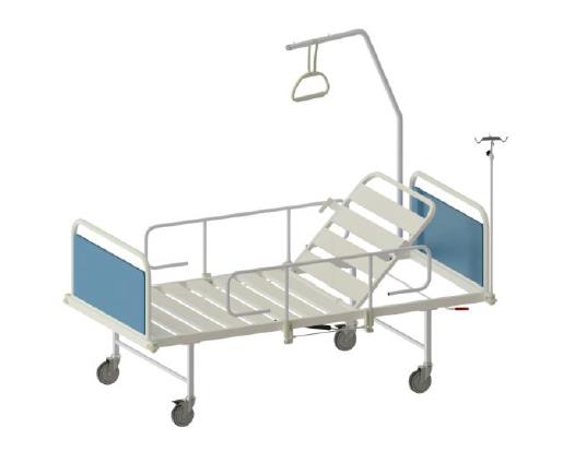 DEMO: Pat de spital mecanic cu saltea - Simple 9S