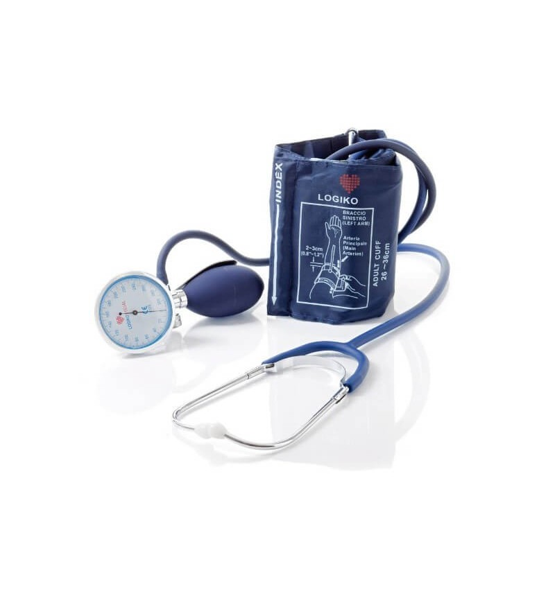 Tensiometru mecanic MORETTI cu manometru la para, cromat si stetoscop - DM346