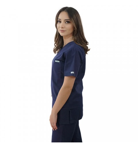 Costum medical Lotus 1, Basic 1, bleumarin