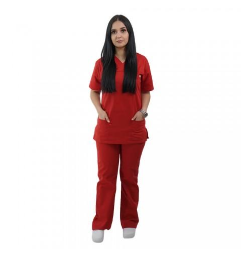 Costum medical Lotus 1, Basic 1, rosu