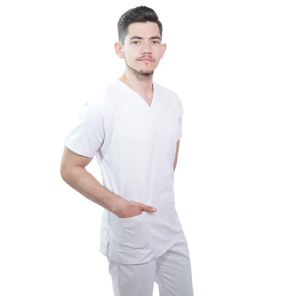 Costum medical Lotus 1, Basic 1, alb