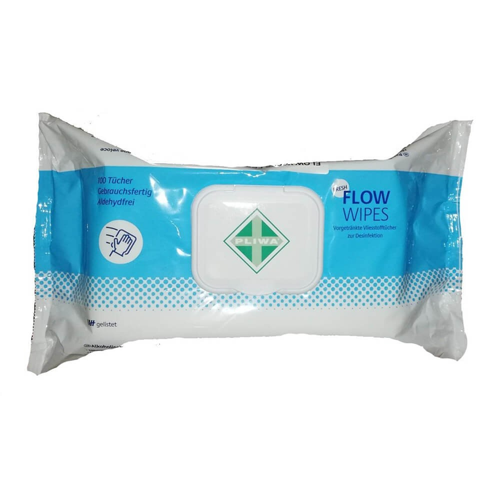 Servetele dezinfectante Flow Wipes Fresh, 100 buc.