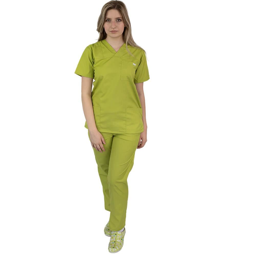 Costum medical Lotus 4, Basic 1, unisex, verde praz