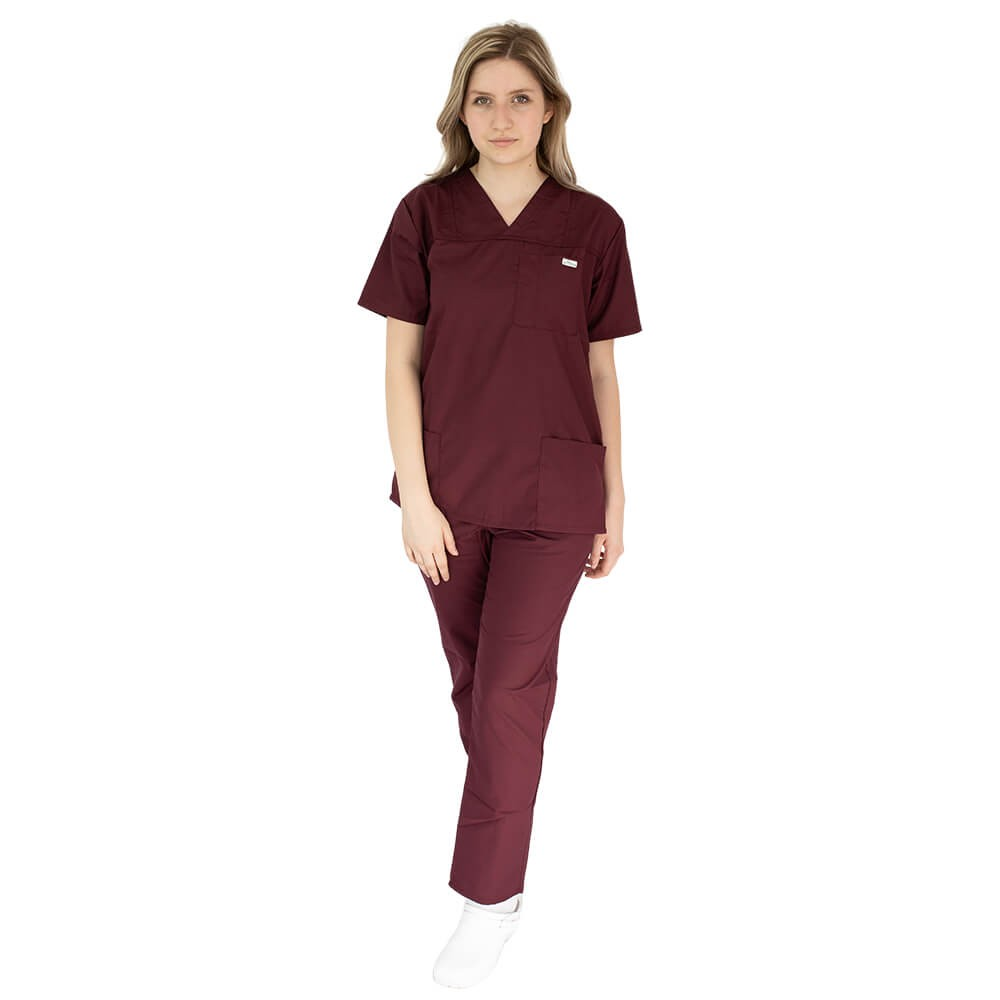 Costum medical Lotus 4, Basic 1, unisex, visiniu