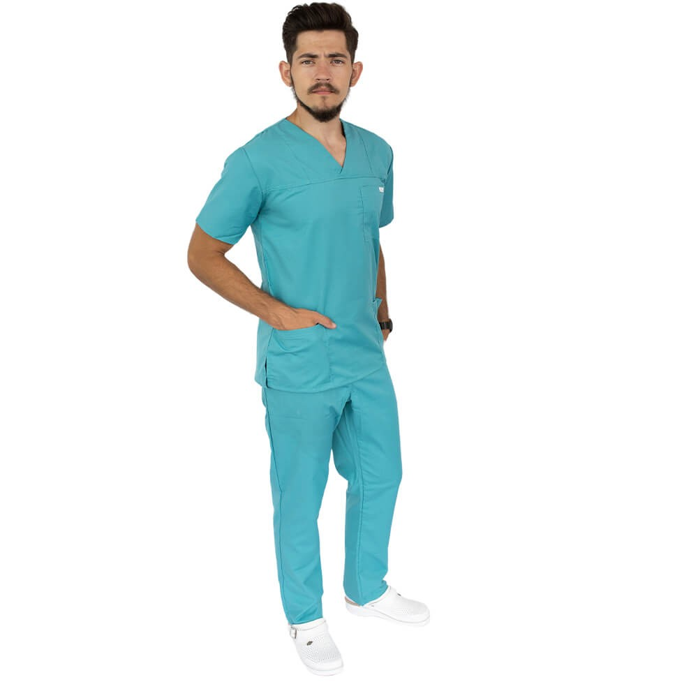 Costum medical Lotus 4, Basic 1, unisex, turcoaz