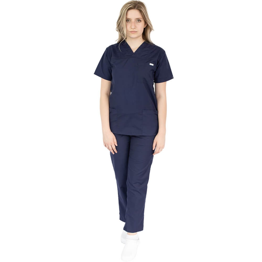 Costum medical Lotus 4, Basic 1, unisex, bleumarin