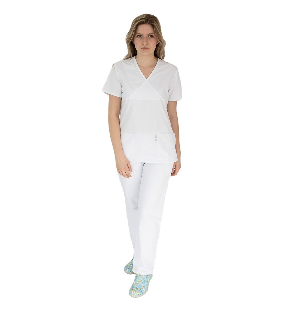 Costum medical femei, Lotus 2, 8073 alb