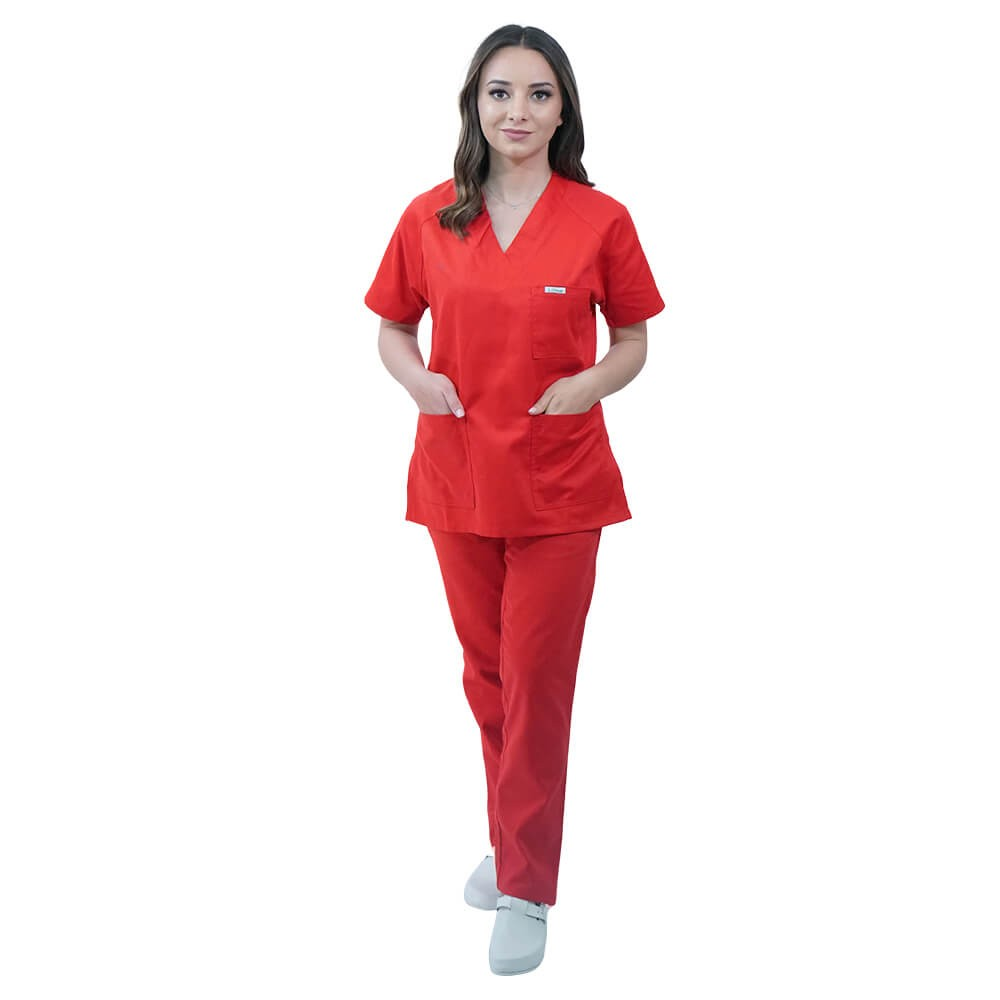 Costum medical Lotus 1, Basic 2, rosu