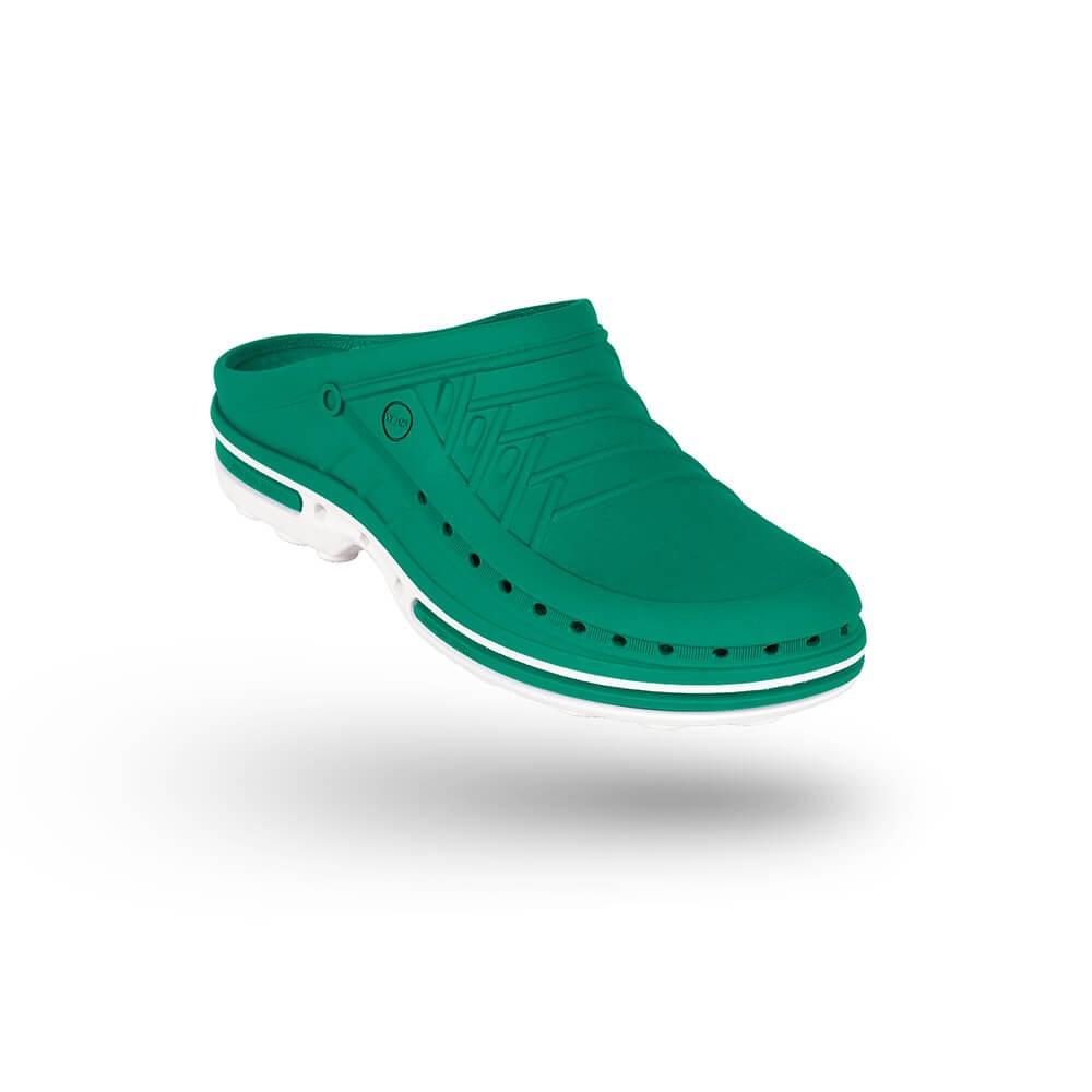 Saboti medicali autoclavabili Wock Clog 06, cu brant Steri-Tech, verde/alb