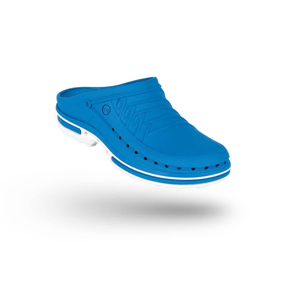 Saboti medicali autoclavabili Wock Clog 07, cu brant Steri-Tech, albastru/alb