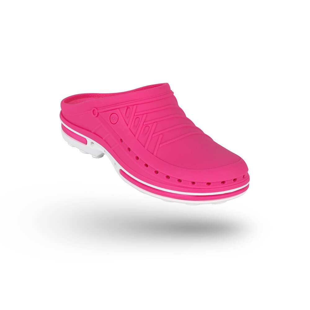 Saboti medicali autoclavabili Wock Clog 09, cu brant Steri-Tech, roz/alb