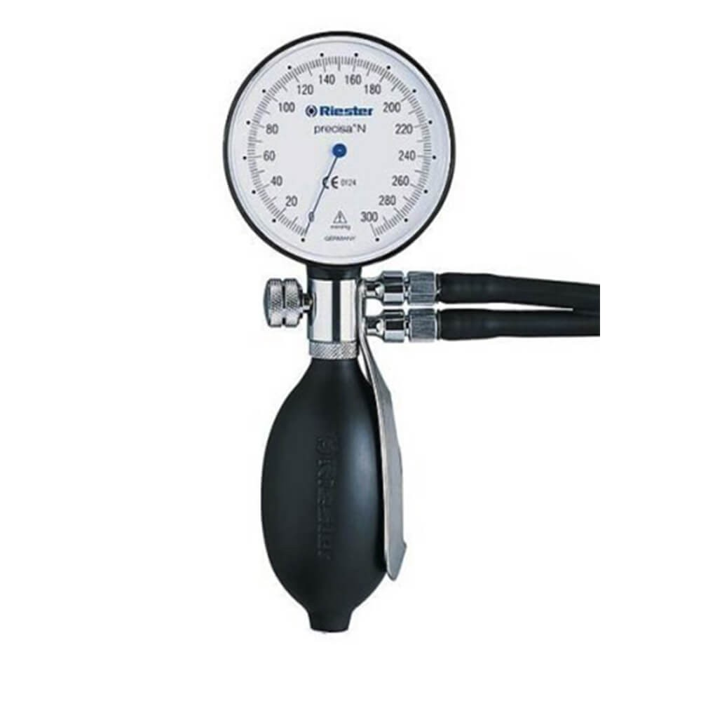 Tensiometru mecanic Riester® precisa N cu 2 tuburi, manseta de obezi