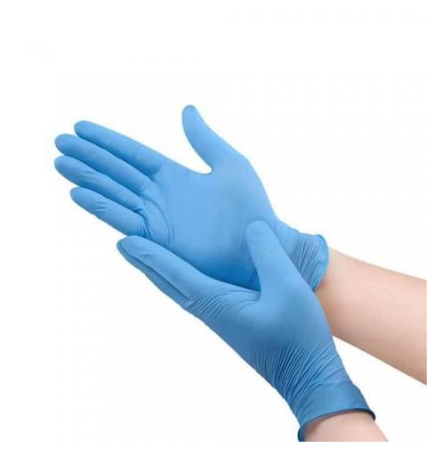 Manusi examinare din nitril, culoare albastru deschis, 100 buc.