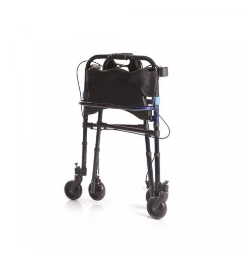 Cadru de mers pliabil cu 4 roti mobile si scaun - RP751