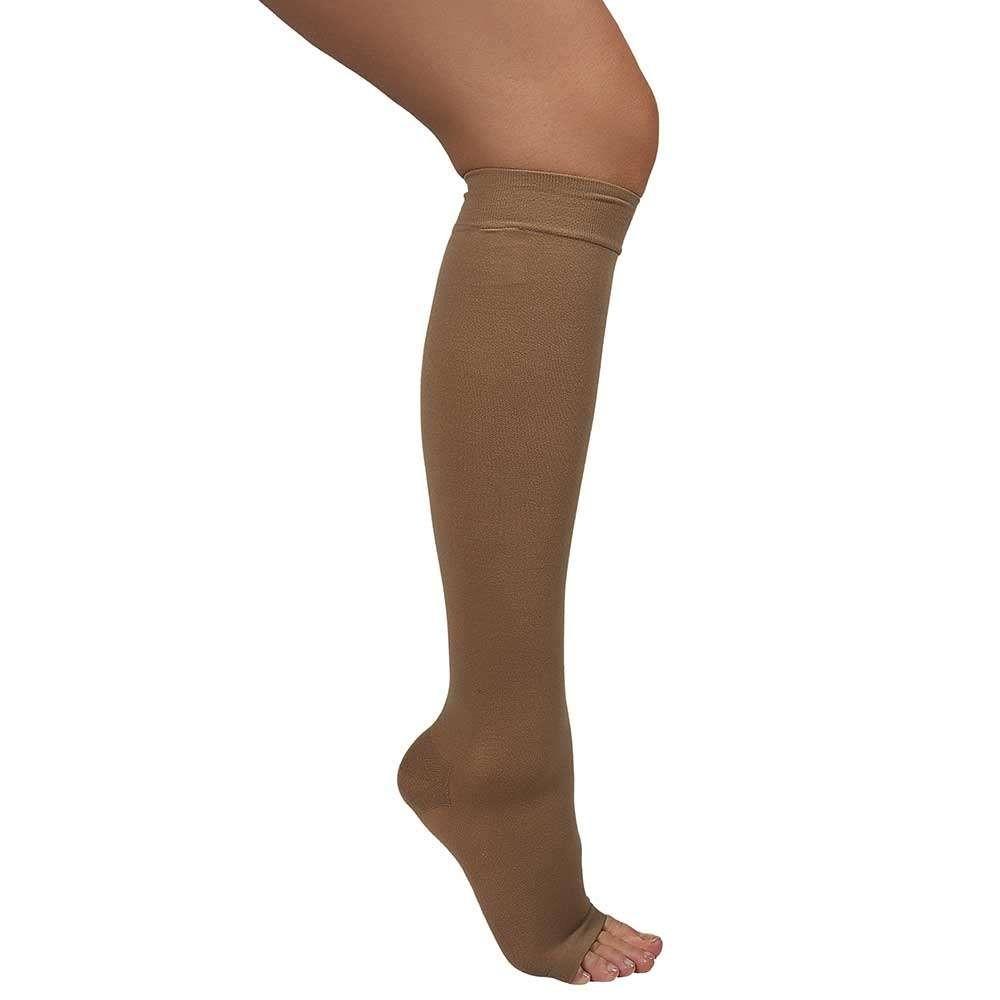 Ciorapi medicali pana la genunchi, cu varf deschis, 20-30 mmHg - ARS01