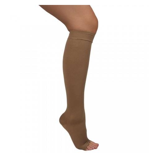 Ciorapi medicali pana la genunchi, cu varf deschis, 15-18 mmHg - ARS13