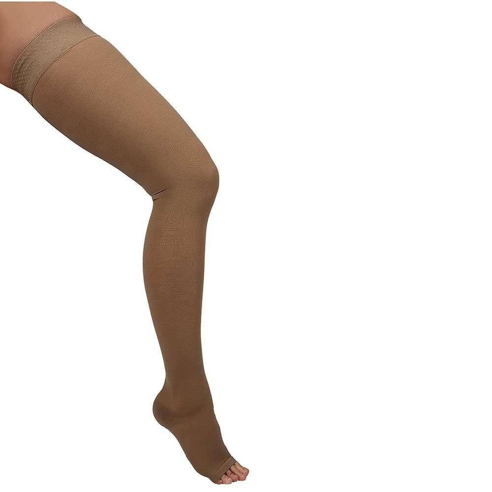 Ciorapi medicali pana la coapsa, cu varf deschis, 20-30 mmHg - ARS02