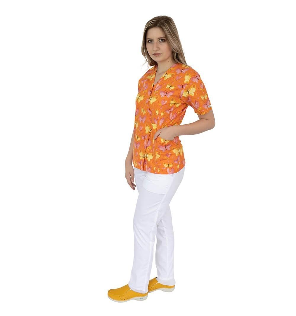 Bluza kimono imprimata, Lotus 1, Orange Butterfly
