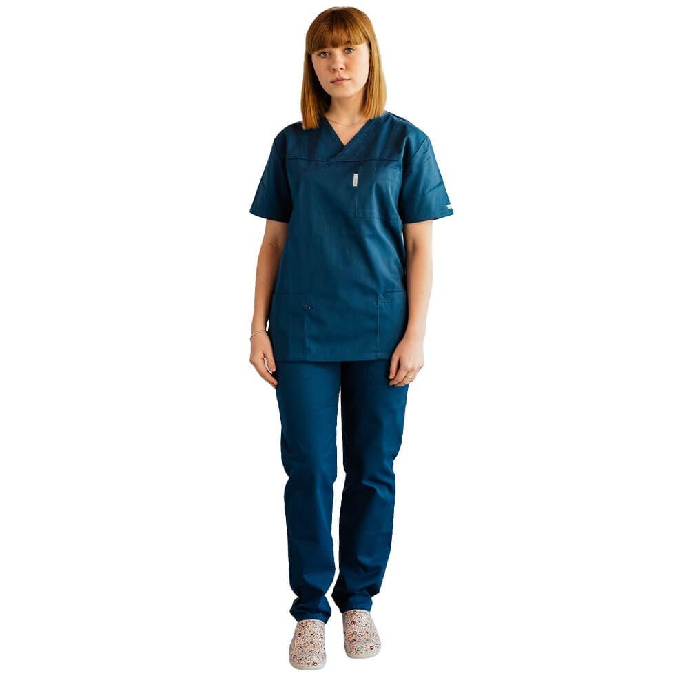 Costum medical Lotus 2, Basic 1, turcoaz inchis