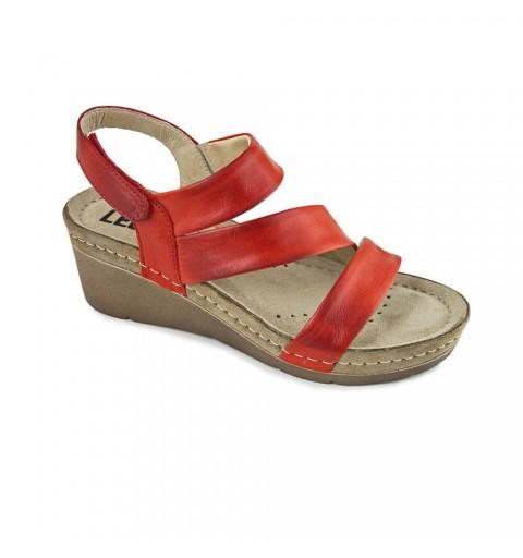 Sandale dama, de vara, din piele, Leon 1020