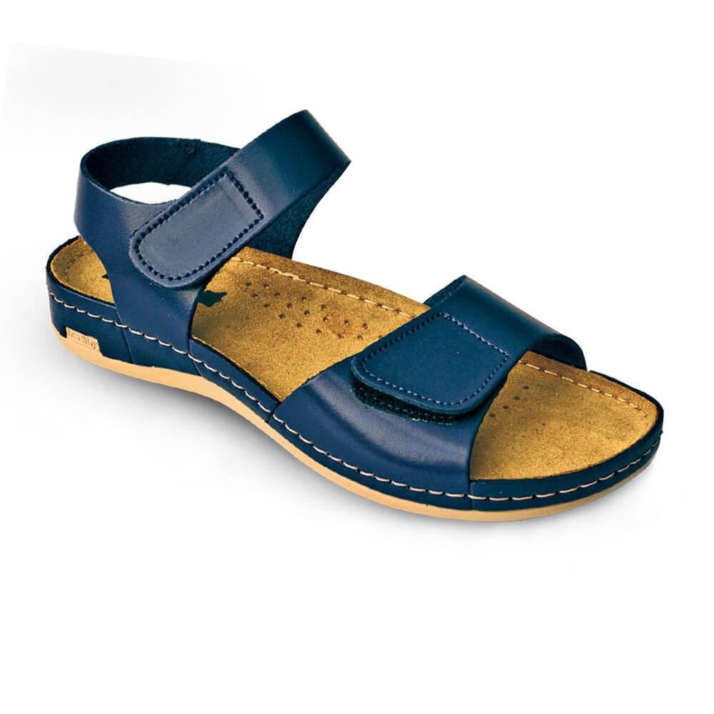 Sandale dama, de vara, din piele, Leon 963, albastru