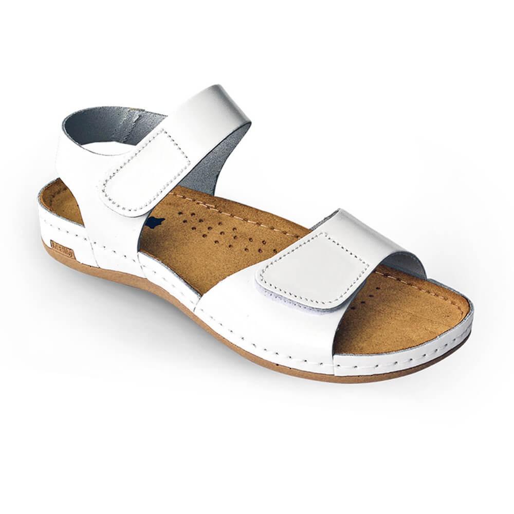 Sandale dama, de vara, din piele, Leon 963, alb