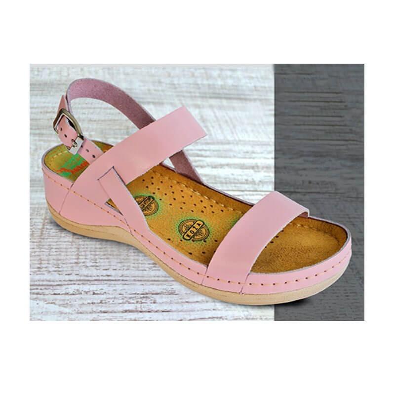Sandale dama, de vara, din piele naturala, Leon 920