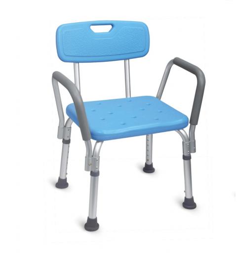 Scaun pentru baie cu spatar si manere, dreptunghiular - FS7985LA