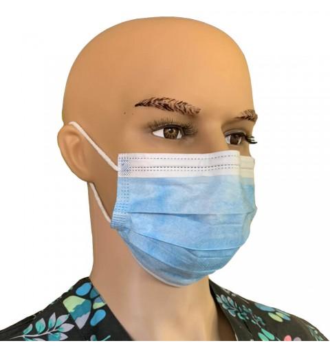 Masti chirurgicale 3 straturi, 3 pliuri, tip II, set de 50 buc.