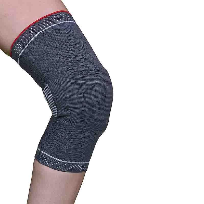 Genunchiera tricot elastic cu suport rotula si insertii silicon ligamente - ARK9103