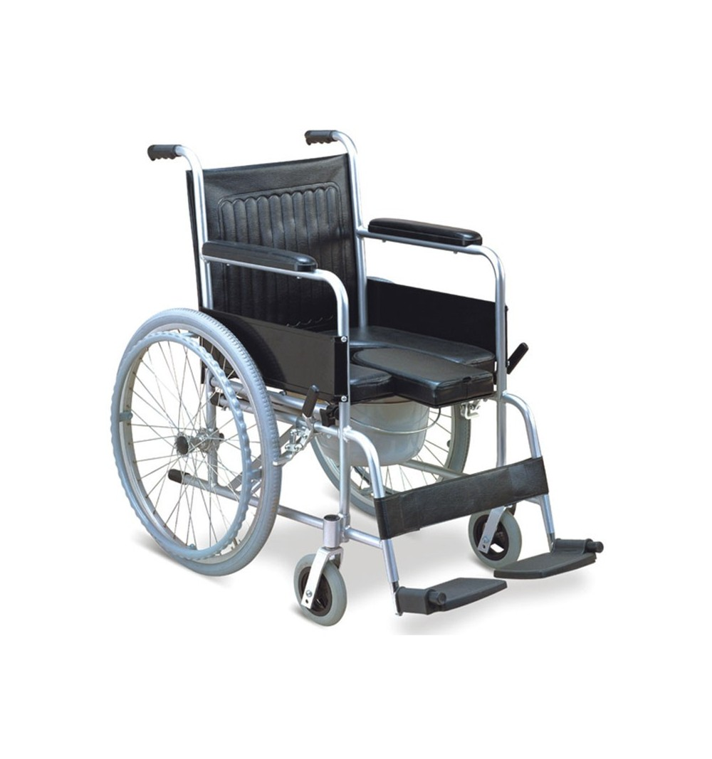 Carucior/scaun WC din aluminiu cu roti - FS609LU