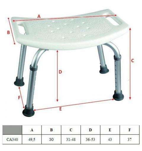 Scaun de baie simplu - CA340L