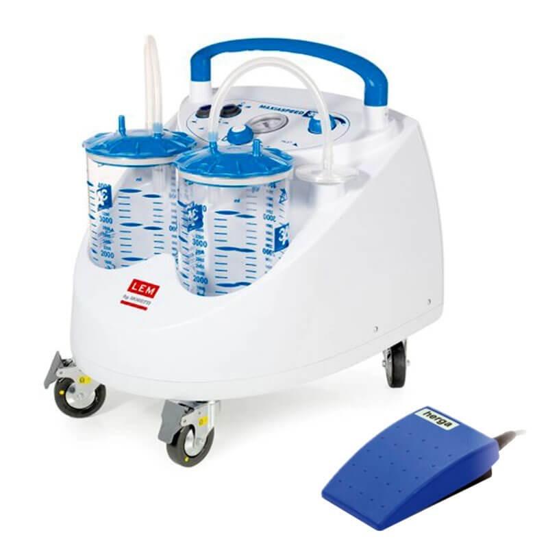 Aspirator chirurgical mobil ASPIMED 4.1 4 litri cu pedala - LTA475