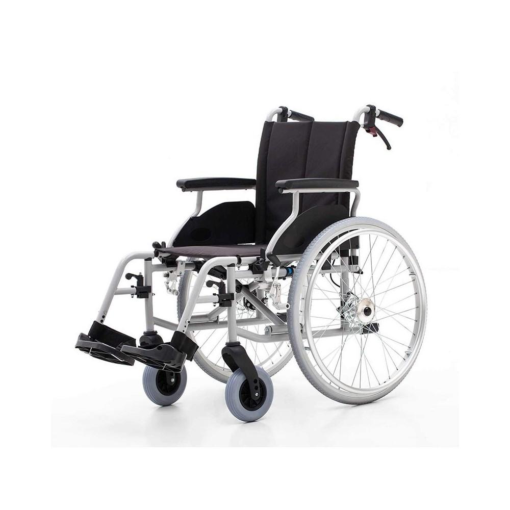 Carucior cu rotile, transport pacienti, cu frana la maner - YJ-AL001A