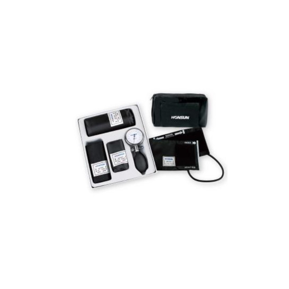 Tensiometru mecanic cu 3 mansete de obezi/adult/copii - HS-GH-301
