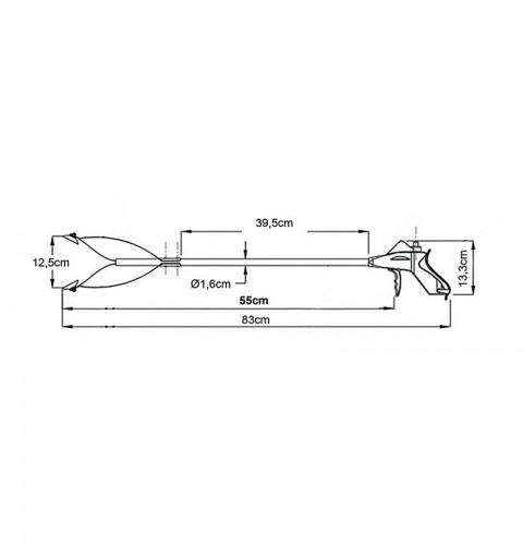 Baston de prindere din aluminiu 55 cm - AU121