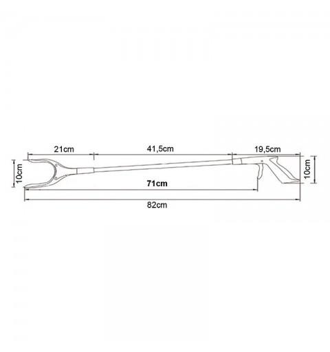 Baston de prindere din plastic 71 cm - AU122