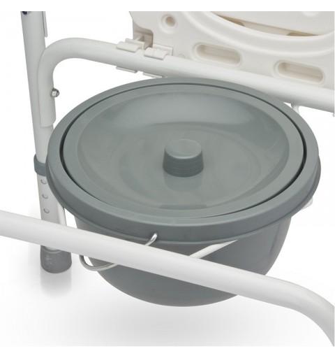 Scaun WC de camera 4 in 1, din otel vopsit - FS810