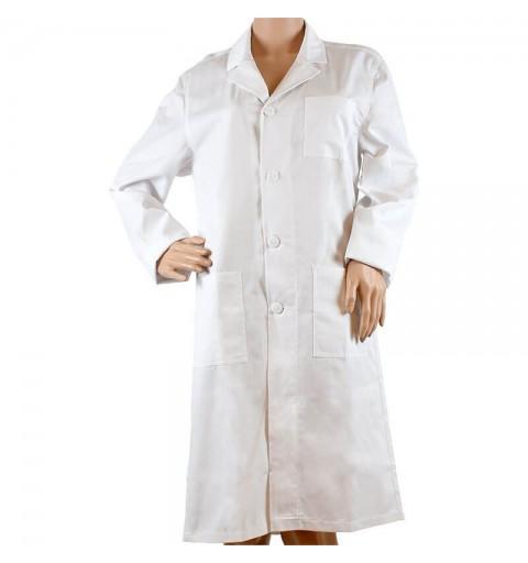 Halat alb cu maneca lunga pentru femei si barbati - CF04