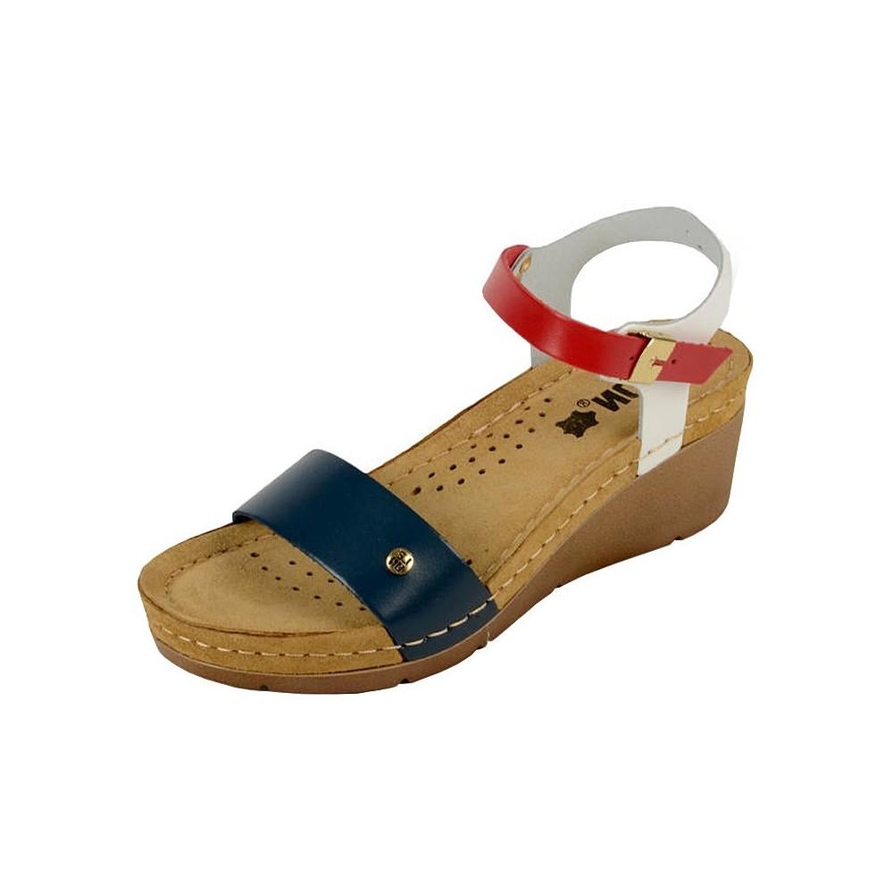 Sandale dama, de vara, din piele, Leon 1015