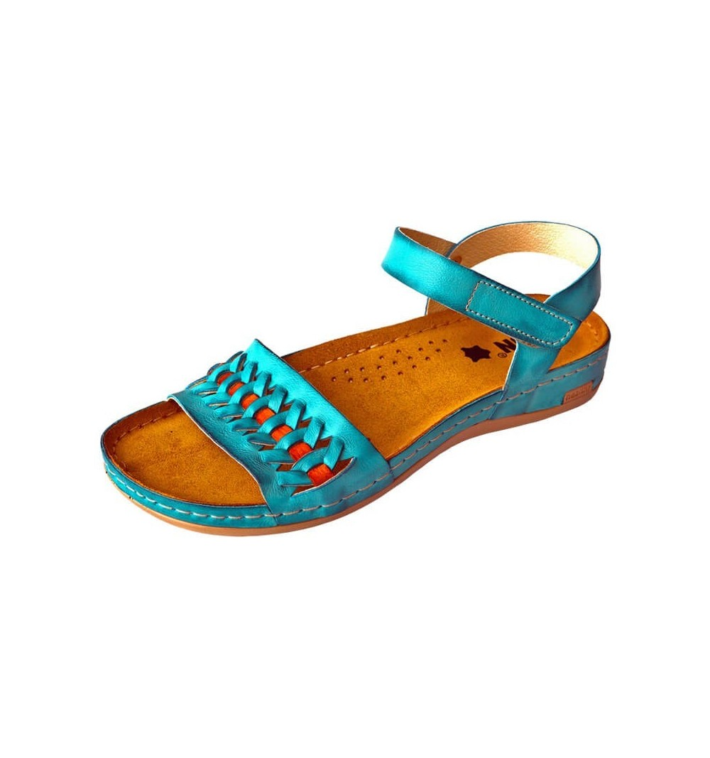 Sandale dama, de vara, din piele, Leon 964