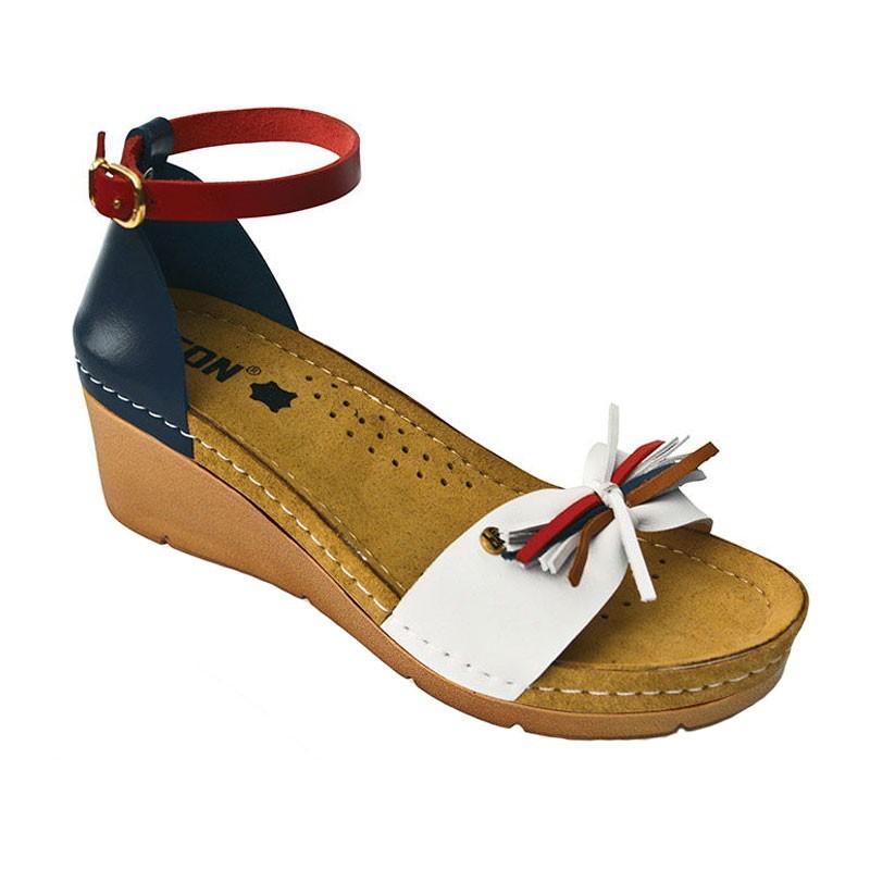 Sandale dama, de vara, din piele, Leon 1025