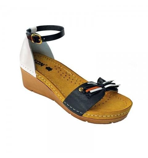 Sandale ortopedice dama cu platforma Leon 1025