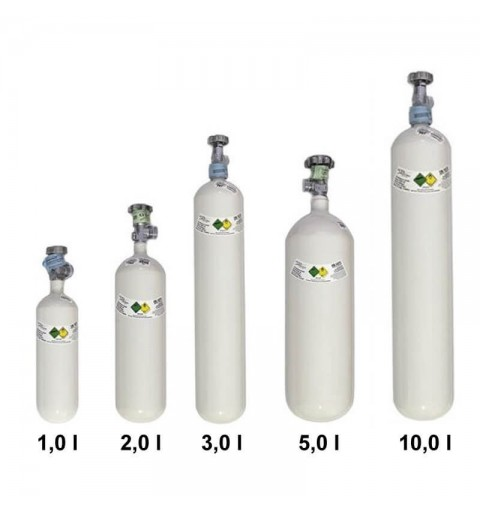 Butelie oxigen din aluminiu Luxfer - 1L, 2L, 3L, 5L, 10L