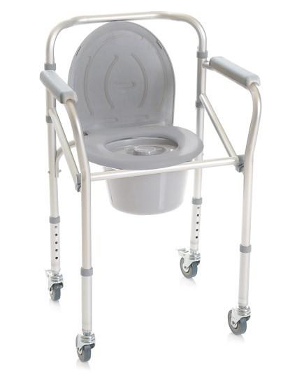 Scaun WC de camera pliabil cu roti, functie 4 in 1 - RP782