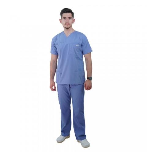 Costum medical Lotus 1, Basic 1, albastru ciel