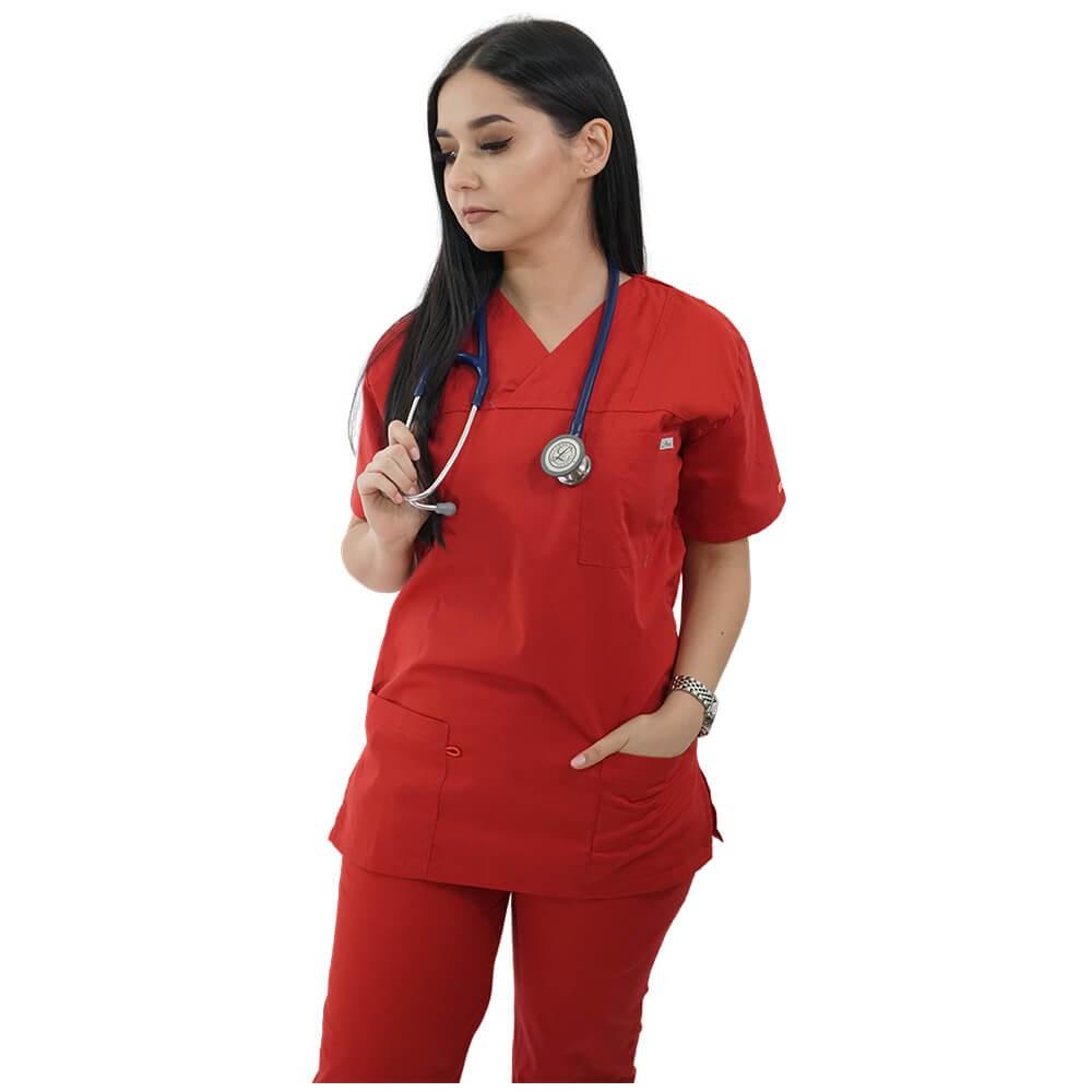 Costum medical Lotus 2, Basic 1, rosu