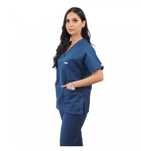 Costum medical Lotus 2, Basic 2, turcoaz inchis